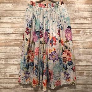 Take Two | 100% Cotton Watercolor Maxi Skirt